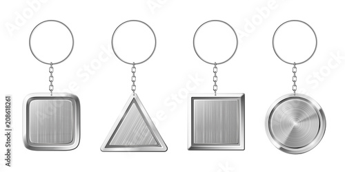 Key ring with silver pendant holder Canvas Print