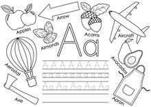 Letter A. Learning English Alp...