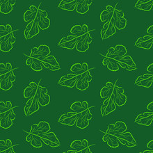 Leaves Of Mulberry - Seamless Background