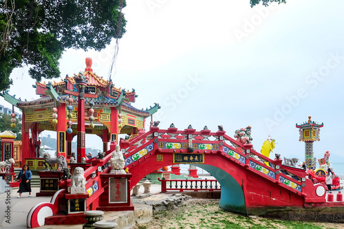 Fototapeta HONG KONG, CHINA - March 17:Guan Yin Temple at Repulse Bay, Hong Kong March 17,