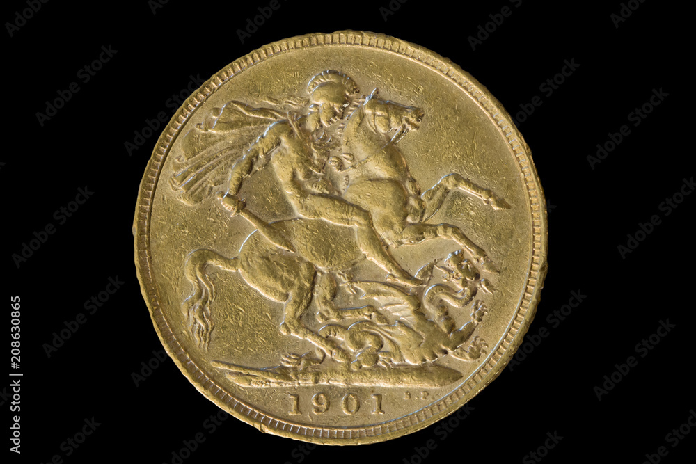 Fotografering  1901 Gold Sovereign of Victoria