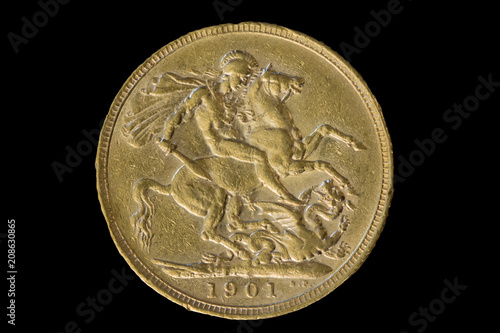 Poster  1901 Gold Sovereign of Victoria