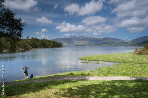 Fotografie, Obraz  Derwent Water in the Sunshine