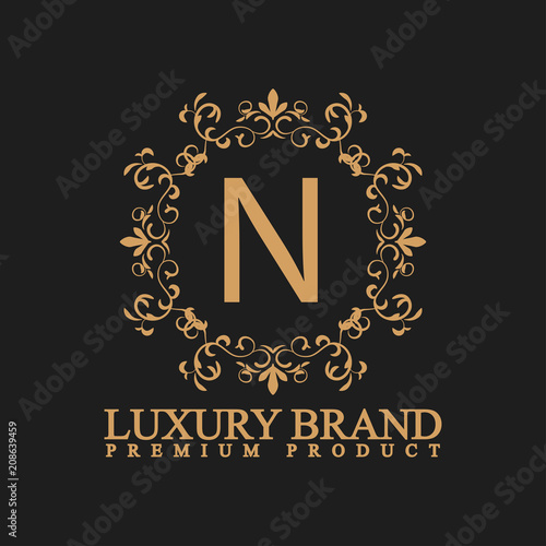 Luxury logo N - Buy this stock vector and explore similar