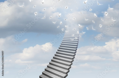 Stampa su Tela Stairway To Heaven Concept
