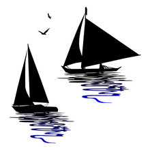 Boats Silhouettes - Vectors For Designers