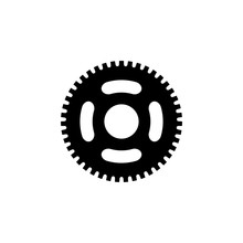 Chain Ring Sprocket Bike Isolated Vector Icon
