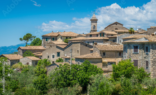 Photo Panoramic view in Arpino, ancient town in the province of Frosinone, Lazio, central Italy