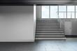 canvas print picture - Minimalistic school hallway interior with copyspace