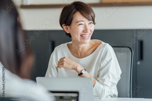 ビジネス・女性 Tablou Canvas