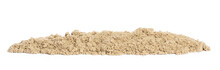 Kinetic Sand In A Heap Close-up For Children Creativity And Indoor Or Outdoor Game Isolated On White Background, Panorama