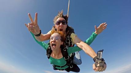 Fototapeta Skydiving tandem happiness