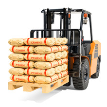 Forklift Truck With Cement Bag...