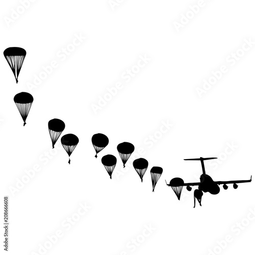 Carta da parati lanzamiento paracaidista