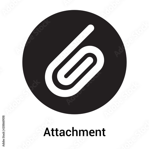 Attachment icon vector sign and symbol isolated on white background, Attachment Canvas Print