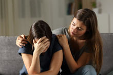 Teen Comforting Hes Sad Friend...