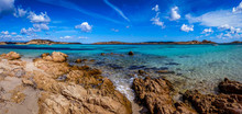 Panoramic View Of A Rocky Beac...
