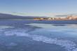 Frozen beach at Ramberg, Lofoten Norway