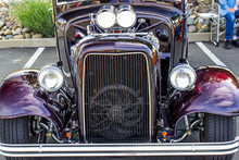 Front End Grill Of Hot Rod Automobile