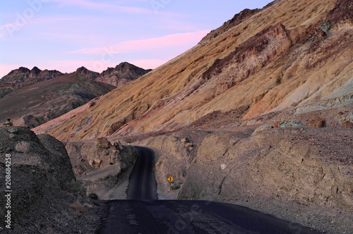 Artist's Drive in Death Valley National Park. Tableau sur Toile