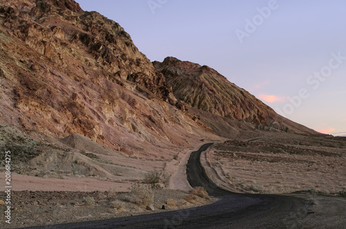 Photographie  Artist's Drive in Death Valley National Park.