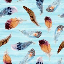 Watercolor Boho Seamless Patte...