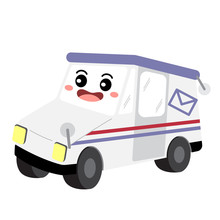 Mail Truck Transportation Cart...
