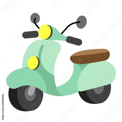 motorowy-skuter-transport-postac-z-kreskowki-widok-perspektywiczny-na-bialym-tle-na-bialym-tle-ilustracji-wektorowych