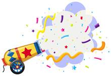Cannon Exploding Confetti Back...