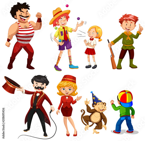 Photo Stands Kids Set of various circus performers