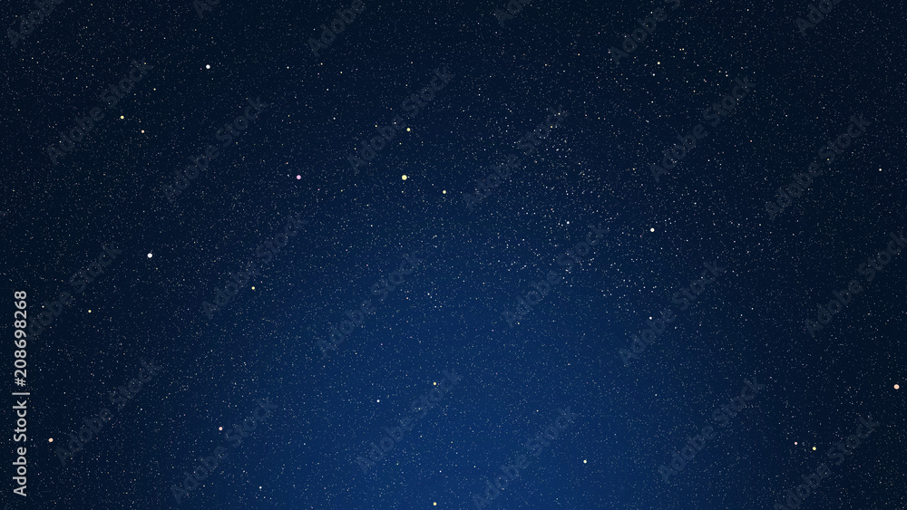 Fototapety, obrazy: dark blue background with stars, glare and highlighted area