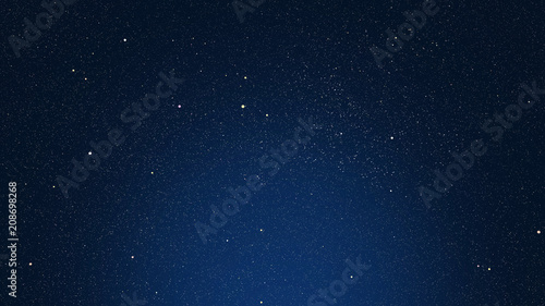 dark blue background with stars, glare and highlighted area