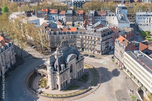 Fotografia, Obraz Lille, view from the belfry of the city hall
