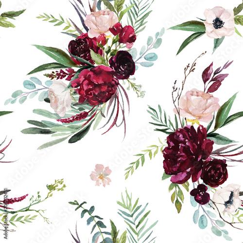 Valokuva  Watercolor seamless pattern