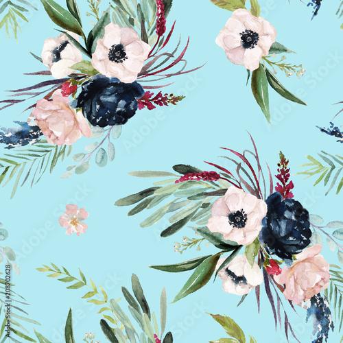 Fotografie, Tablou Watercolor seamless pattern