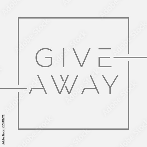 Giveaway banner with minimal typography for contests in social media Canvas-taulu