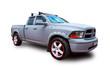 American pickup truck. White background.
