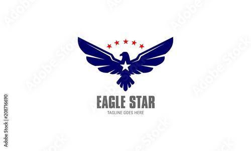 Eagle Star Vector Logo Wallpaper Mural