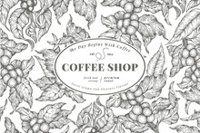 Coffee Tree Banner Template. V...