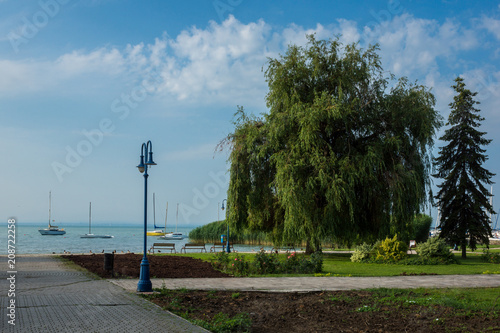 Photo  Park in Alsoors near Balaton lake, Hungary