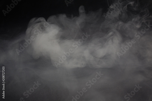 Garden Poster Smoke Cloud of white smoke on a black background closeup