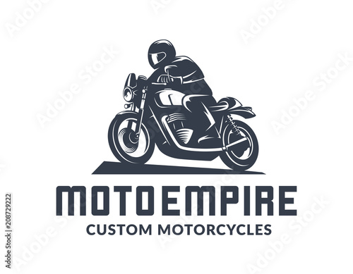 Photo Vintage cafe racer motorcycle logo.