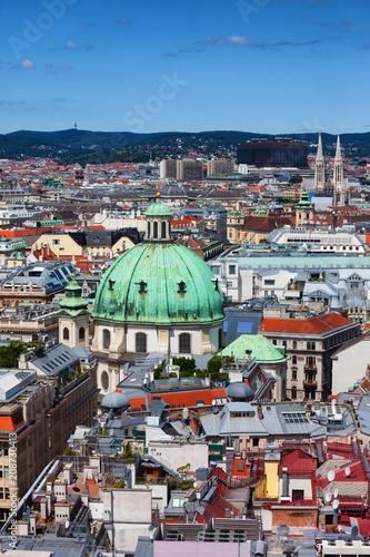 Tuinposter Wenen Vienna City Cityscape In Austria