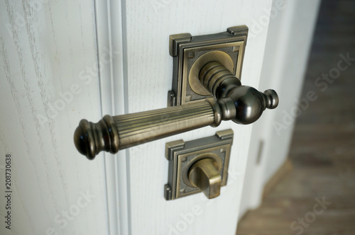 Obraz Door handle and lock - fototapety do salonu