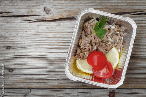 Healthy Food Delivery Eat Right Concept Clean Nutrition Foil