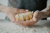 Chef making traditional italian homemade pasta - 208735047