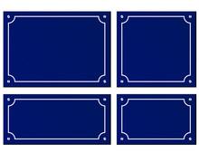 Four Sizes Blue Plaques Background
