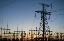 High-voltage Power Lines At Su...