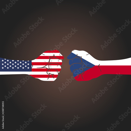 Conflict between countries: USA vs Czech Republic Poster