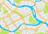 Streszczenie transparent mapa miasta.